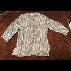 Chico's Design Linen shirt/jacket. Size 3.